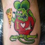 Killer Rat Fink tattoo by @cgetzlaff at Tower Tattoo Parlor.…